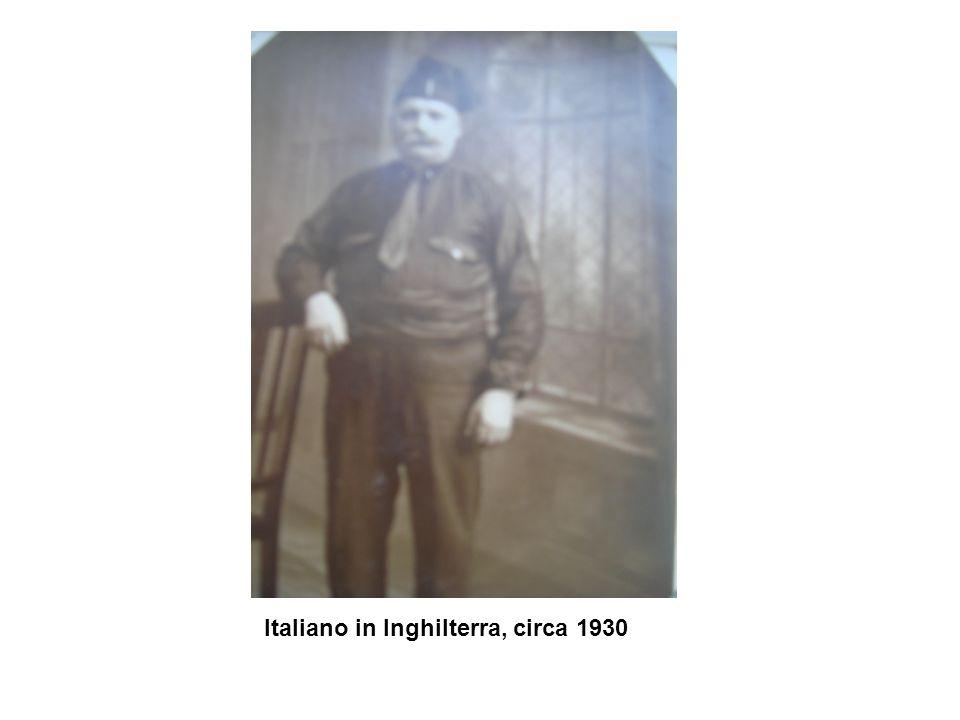 Italiano in Inghilterra, circa 1930