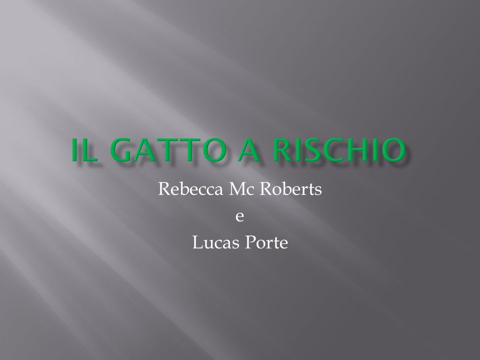 Rebecca Mc Roberts e Lucas Porte