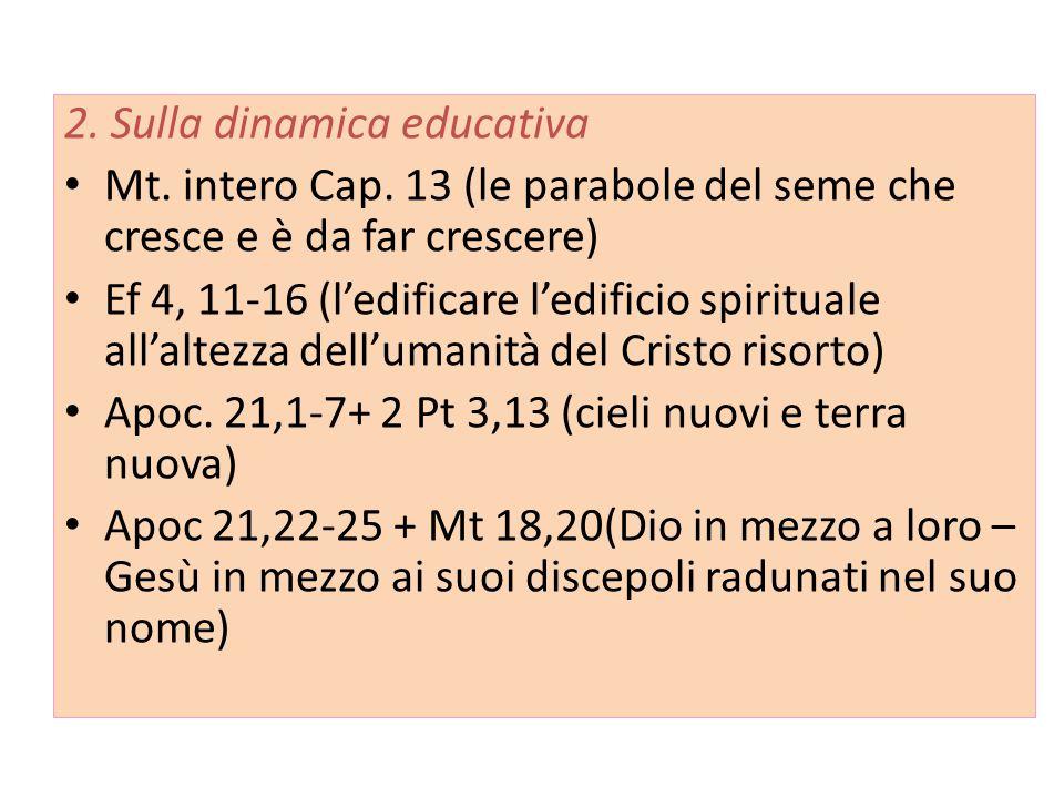 2.Sulla dinamica educativa Mt. intero Cap.