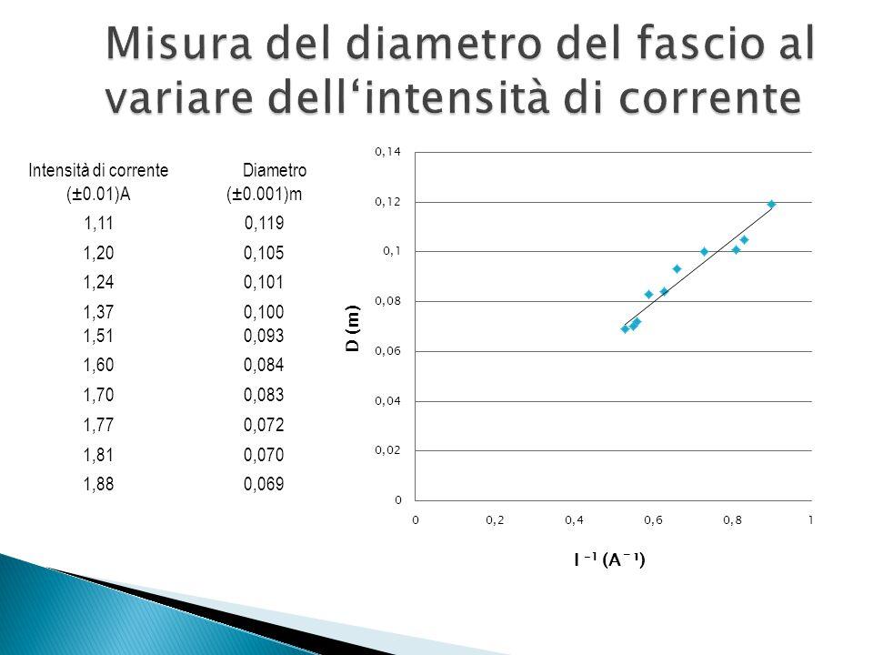Mediante la tecnica della regressione lineare stimiamo la pendenza b della retta di best fit dei dati ed il suo errore.