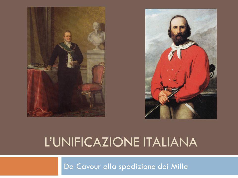 L'UNIFICAZIONE ITALIANA Da Cavour alla spedizione dei Mille