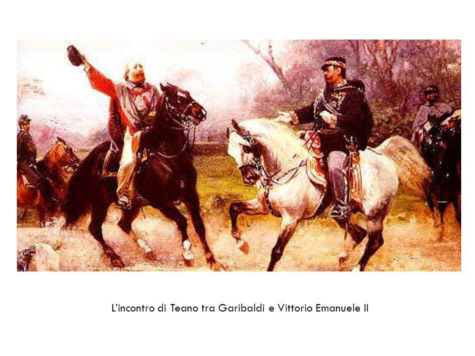 L'incontro di Teano tra Garibaldi e Vittorio Emanuele II