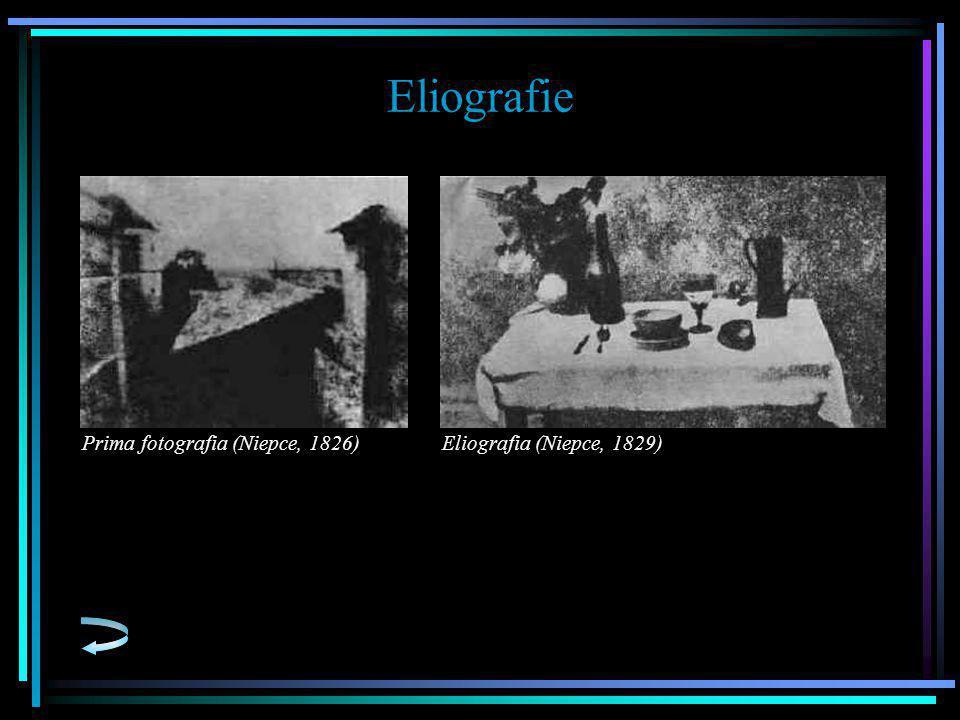 Eliografie Prima fotografia (Niepce, 1826)Eliografia (Niepce, 1829)