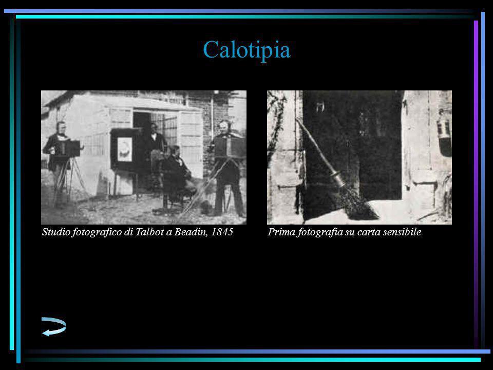 Calotipia Studio fotografico di Talbot a Beadin, 1845Prima fotografia su carta sensibile