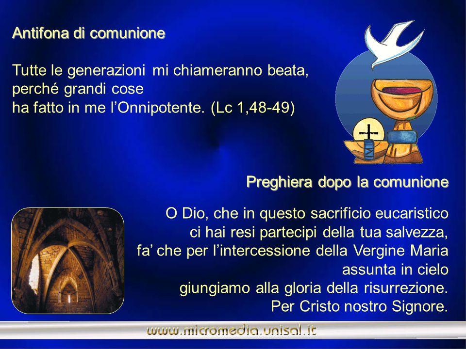Prefazio Prefazio Maria icona della Chiesa pellegrinante. È veramente cosa buona e giusta, nostro dovere e fonte di salvezza, rendere grazie sempre e