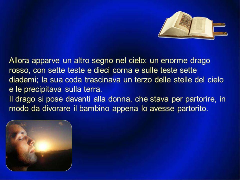 Prima lettura Ap 11,19; 12,1-6.10 Una donna vestita di sole, con la luna sotto i suoi piedi. Dal libro dell'Apocalisse di san Giovanni apostolo Si apr