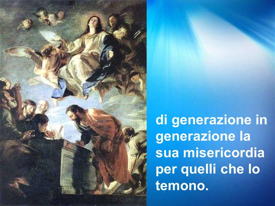Grandi cose ha fatto per me l'Onnipotente e Santo è il suo nome;
