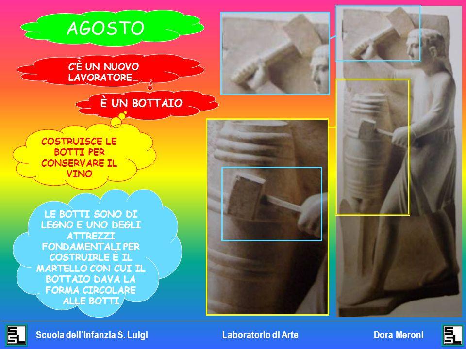 Scuola dell'Infanzia S. LuigiLaboratorio di Arte Dora Meroni LUGLIO GUARDA IL VISO E I CAPELLI. LO RICONOSCI? HA IN MANO UNA VERGA, UNA FRUSTA FATTA D