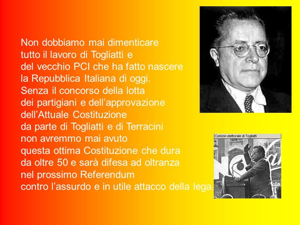 Dunque sono molto felice per Napolitano, che dopo una lunga vita passata all'interno del PCI prima e Ds poi ha coronato il suo sogno personale, ma anc