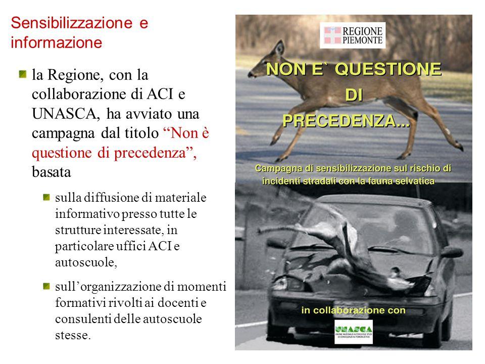 """la Regione, con la collaborazione di ACI e UNASCA, ha avviato una campagna dal titolo """"Non è questione di precedenza"""", basata sulla diffusione di mate"""