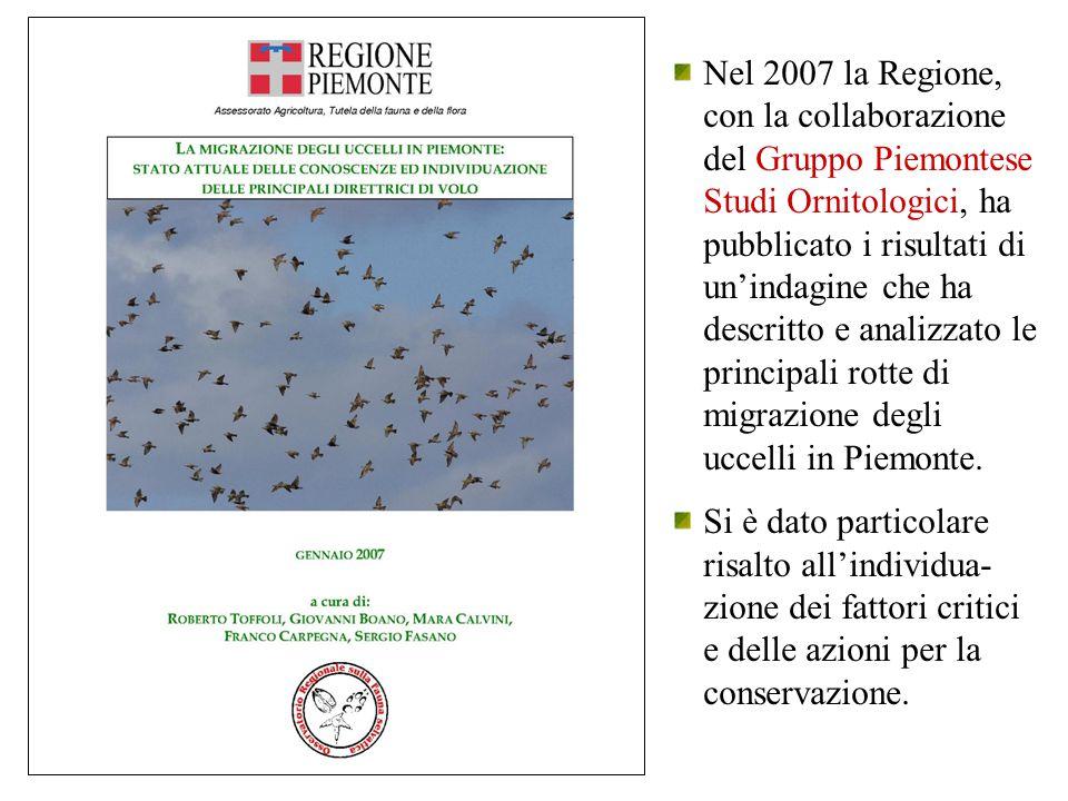 Nel 2007 la Regione, con la collaborazione del Gruppo Piemontese Studi Ornitologici, ha pubblicato i risultati di un'indagine che ha descritto e anali