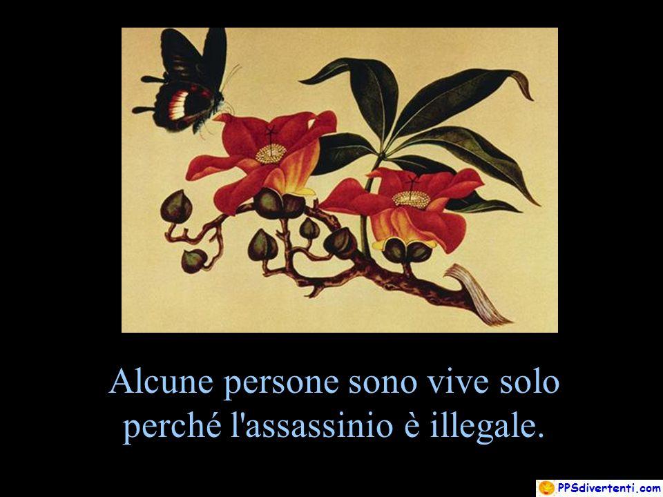 Alcune persone sono vive solo perché l'assassinio è illegale.