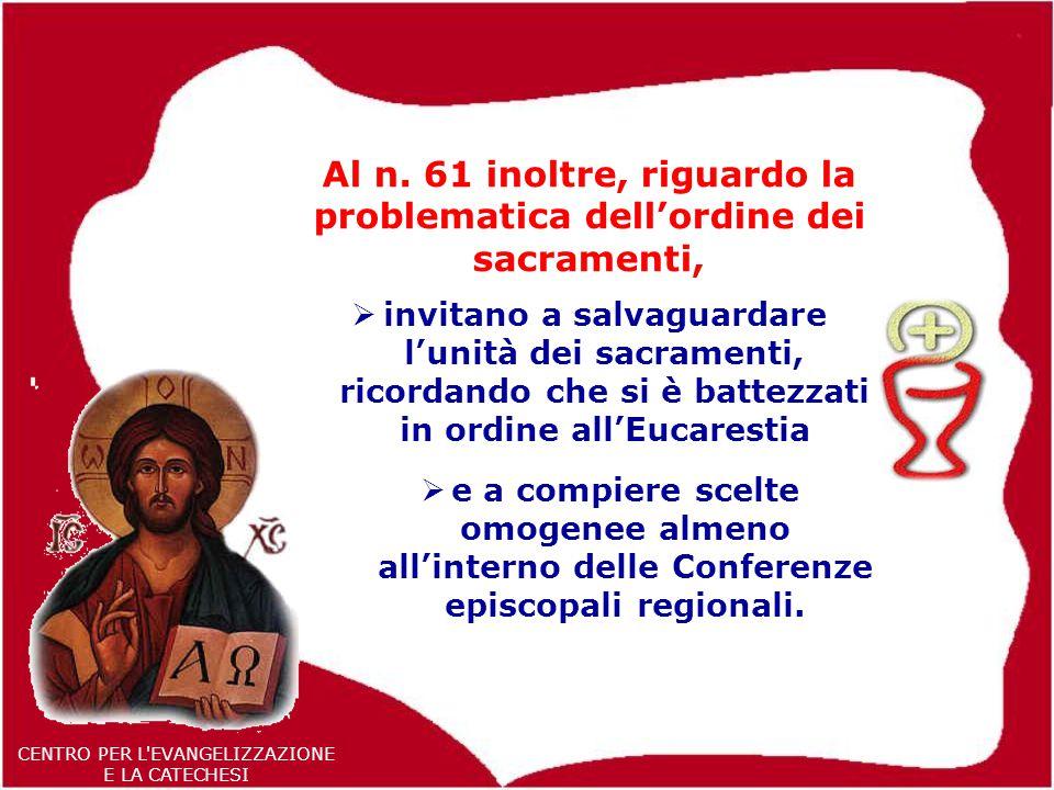 53 CENTRO PER L EVANGELIZZAZIONE E LA CATECHESI Al n.