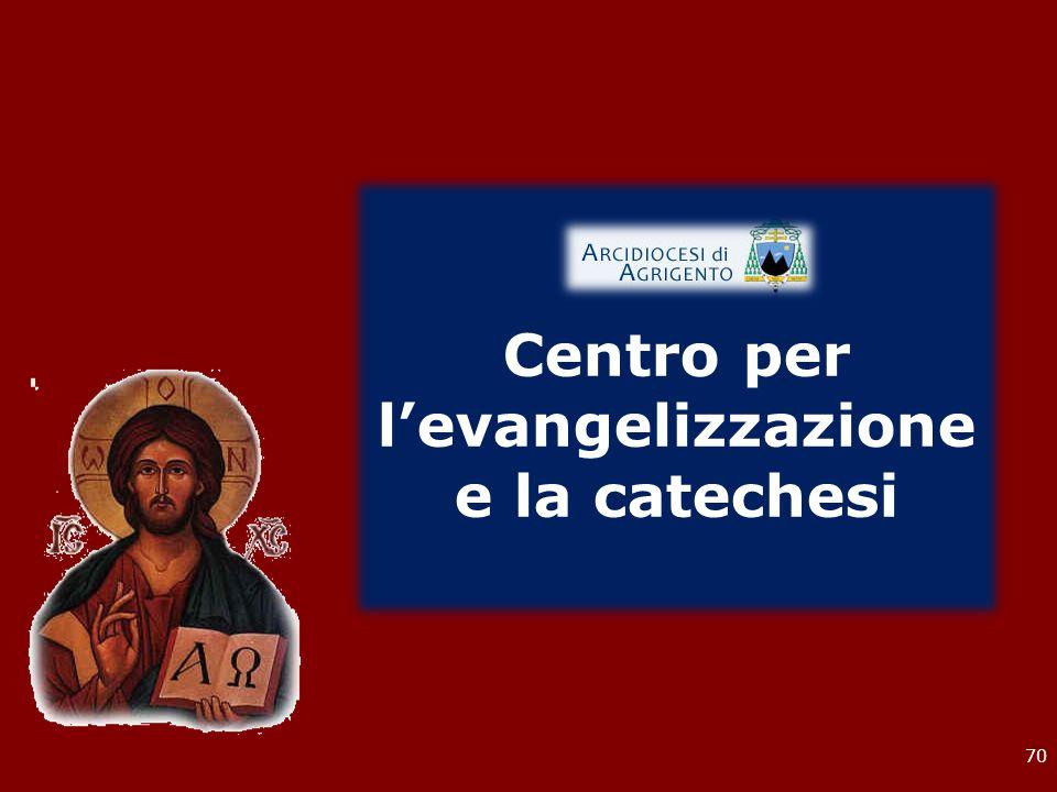 70 Centro per l'evangelizzazione e la catechesi