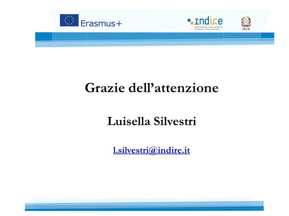 Grazie dell'attenzione Luisella Silvestri l.silvestri@indire.it l.silvestri@indire.it