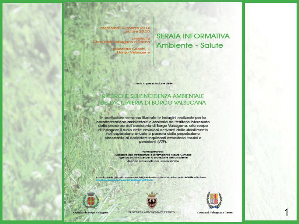 Borgo Valsugana, 12 marzo 2014 SERATA INFORMATIVA Ambiente - Salute SERATA INFORMATIVA Ambiente - Salute