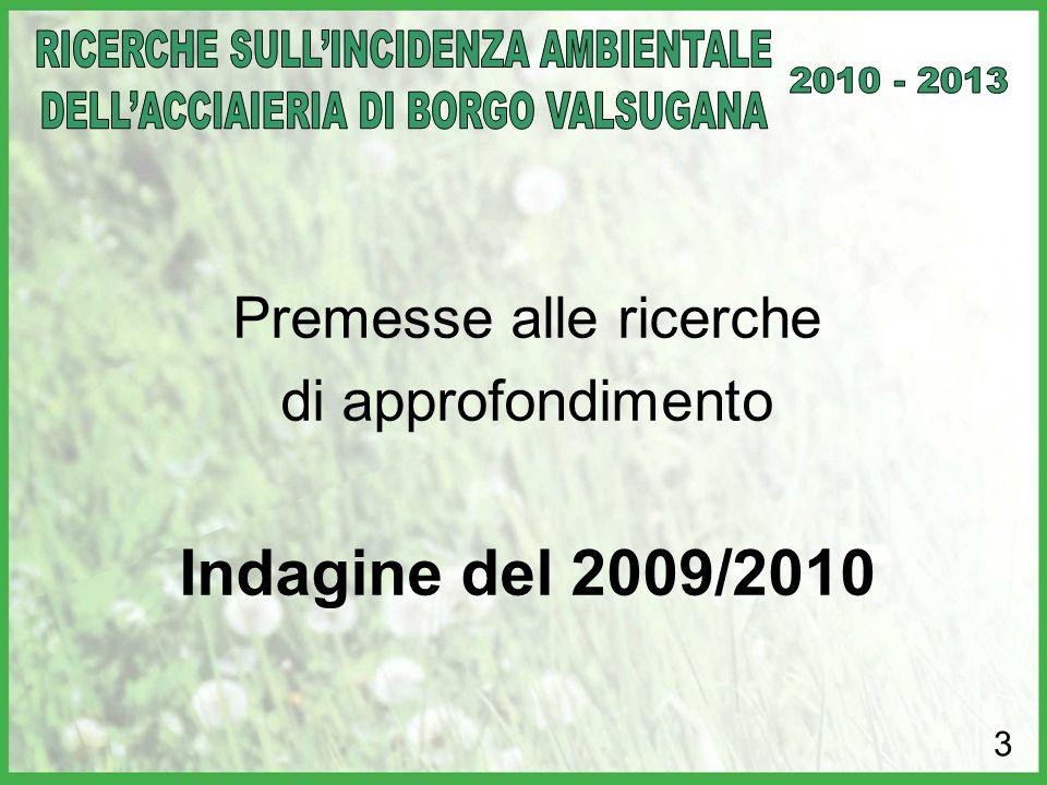 Premesse alle ricerche di approfondimento Indagine del 2009/2010 3