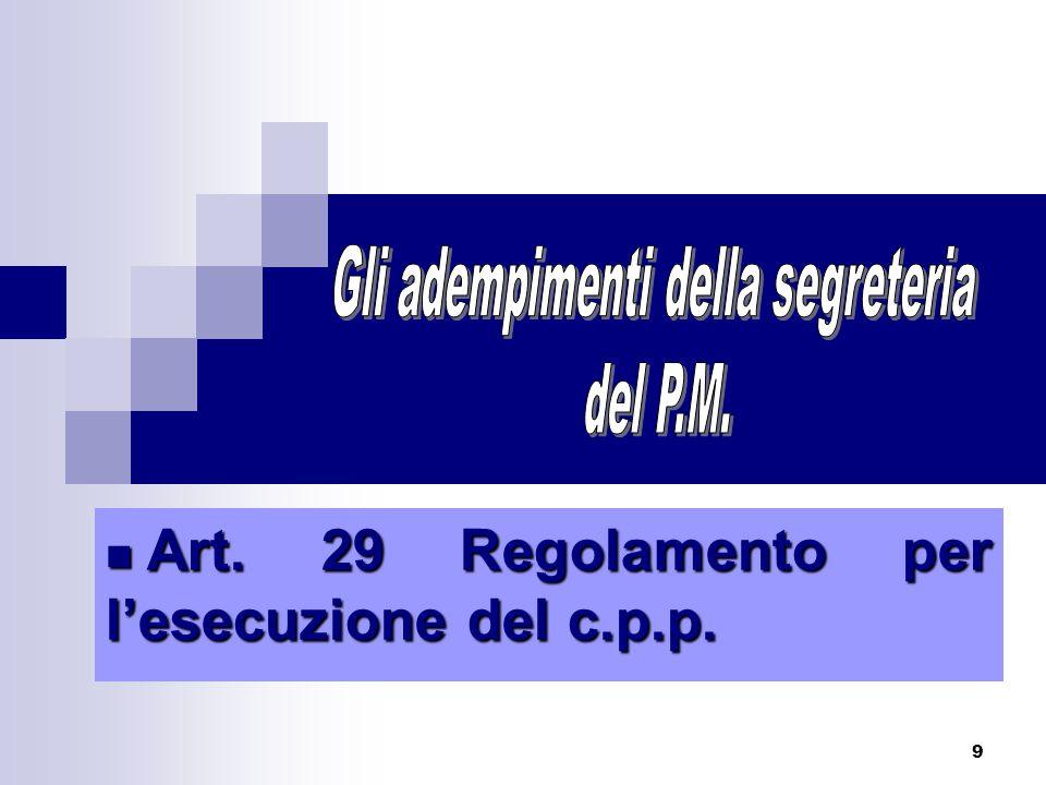 30 Trasmette la sentenza irrevocabile (entro 15 giorni da quello in cui è divenuta irrevocabile) ai competenti uffici (regionali / comunali ) al fine dell'esecuzione .