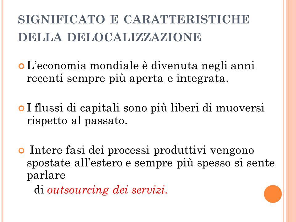 Internazionalizzazione o globalizzazione dell'economia mondiale.