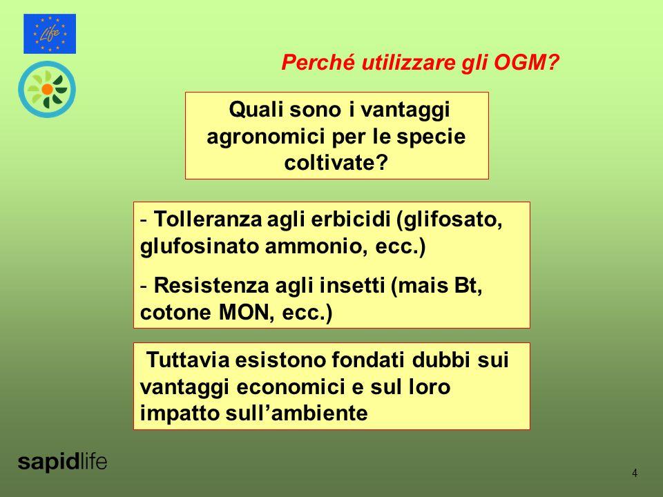 4 Quali sono i vantaggi agronomici per le specie coltivate.