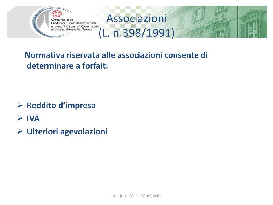 Limite di reddito Proventi commerciali non eccedenti € 250.000 (art.