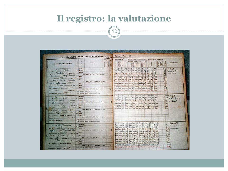 Il registro: la valutazione 10