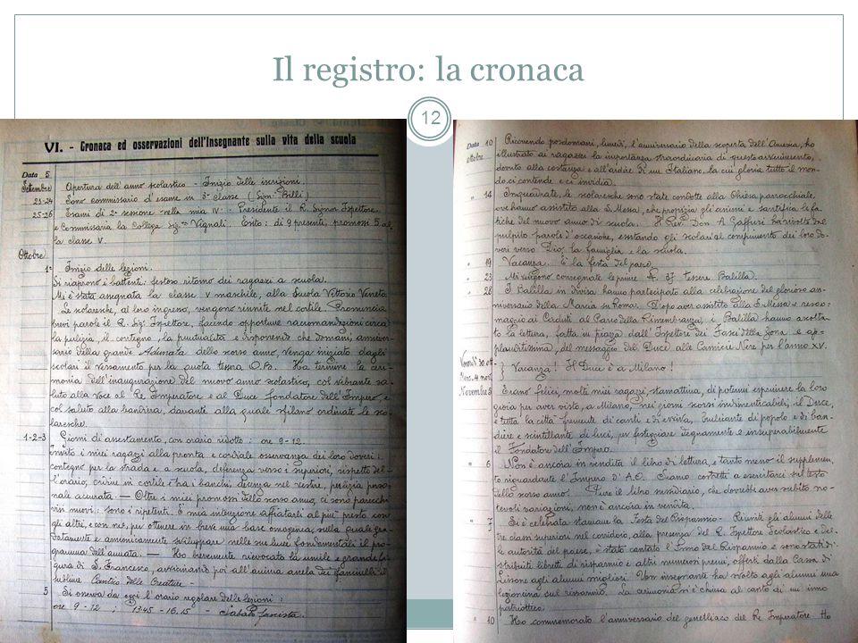 Il registro: la cronaca 12