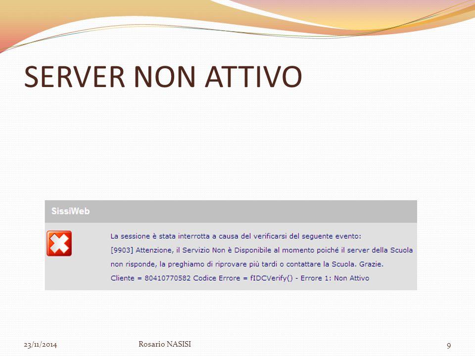 SERVER NON ATTIVO 23/11/2014Rosario NASISI9