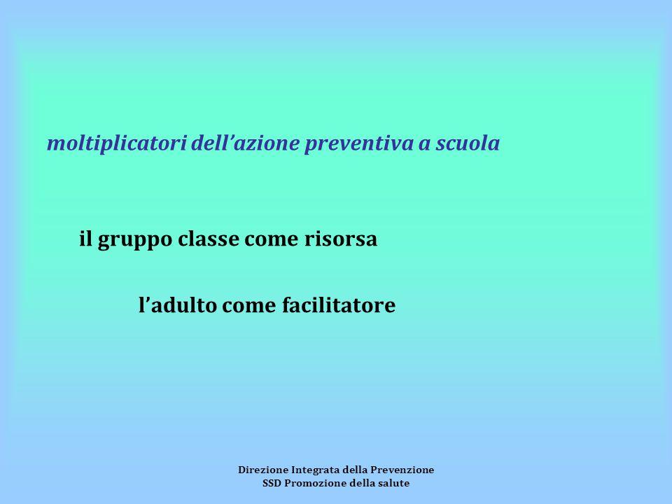 Direzione Integrata della Prevenzione SSD Promozione della salute moltiplicatori dell'azione preventiva a scuola il gruppo classe come risorsa l'adult