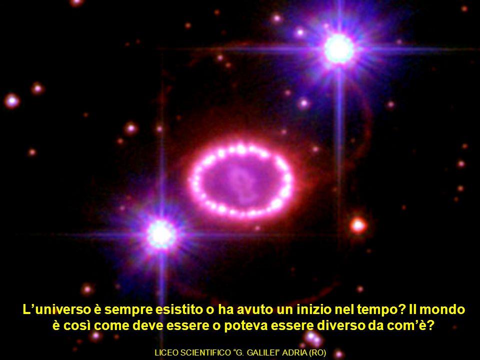 L'universo è sempre esistito o ha avuto un inizio nel tempo.
