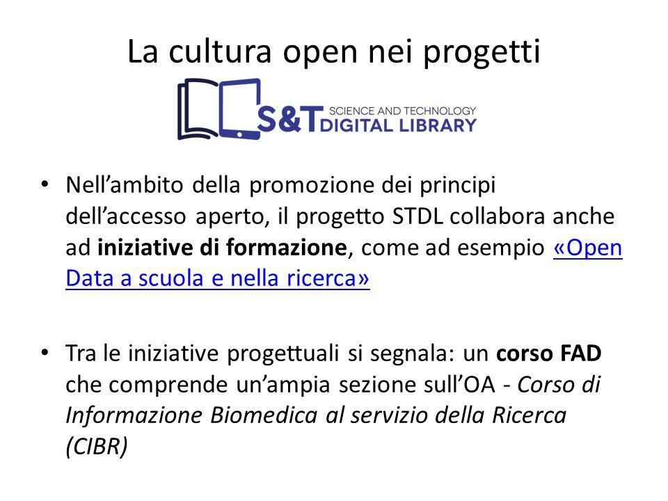 Nell'ambito della promozione dei principi dell'accesso aperto, il progetto STDL collabora anche ad iniziative di formazione, come ad esempio «Open Dat