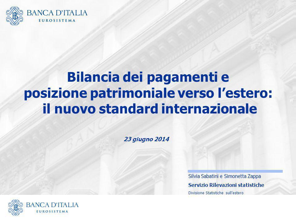 23 giugno 2014 Silvia Sabatini e Simonetta Zappa Servizio Rilevazioni statistiche Divisione Statistiche sull'estero Bilancia dei pagamenti e posizione