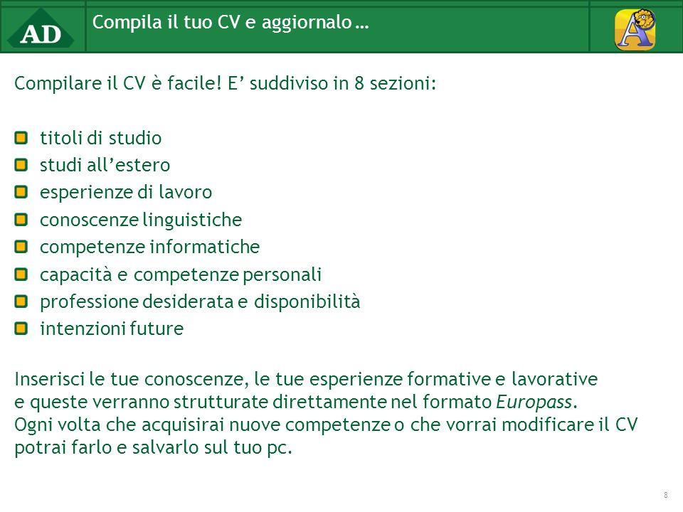 Compilare il CV è facile.