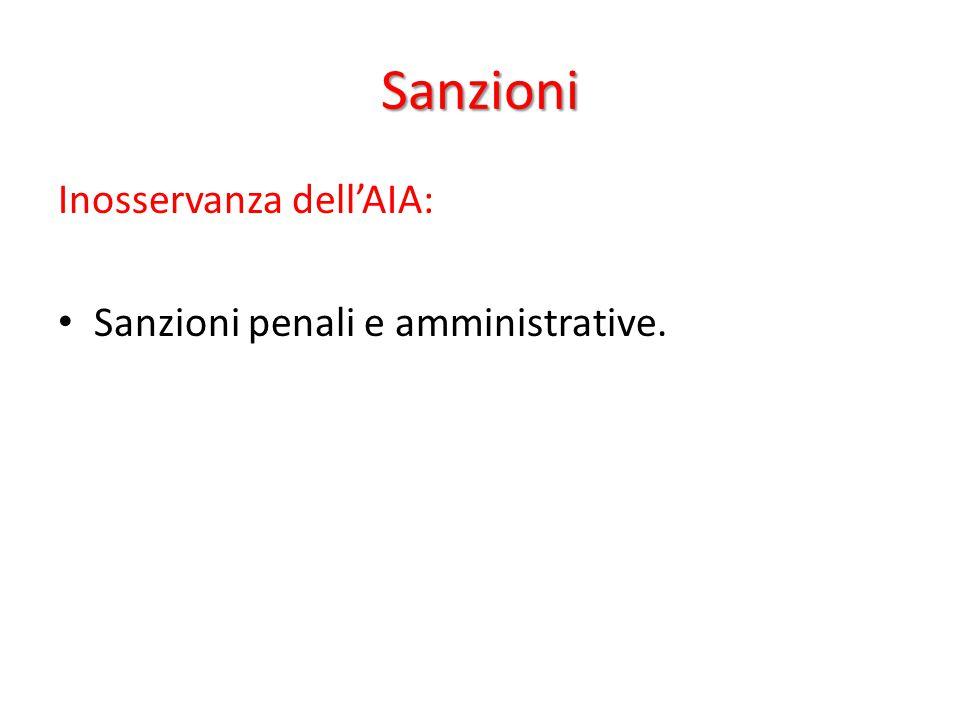 Sanzioni Inosservanza dell'AIA: Sanzioni penali e amministrative.