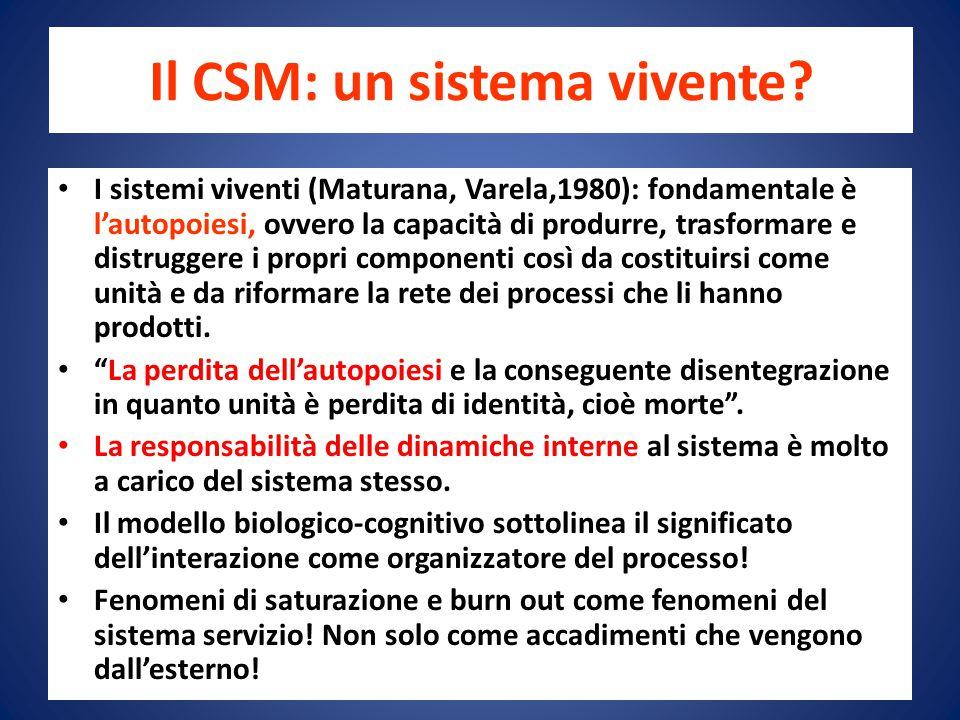 Il CSM: un sistema vivente.