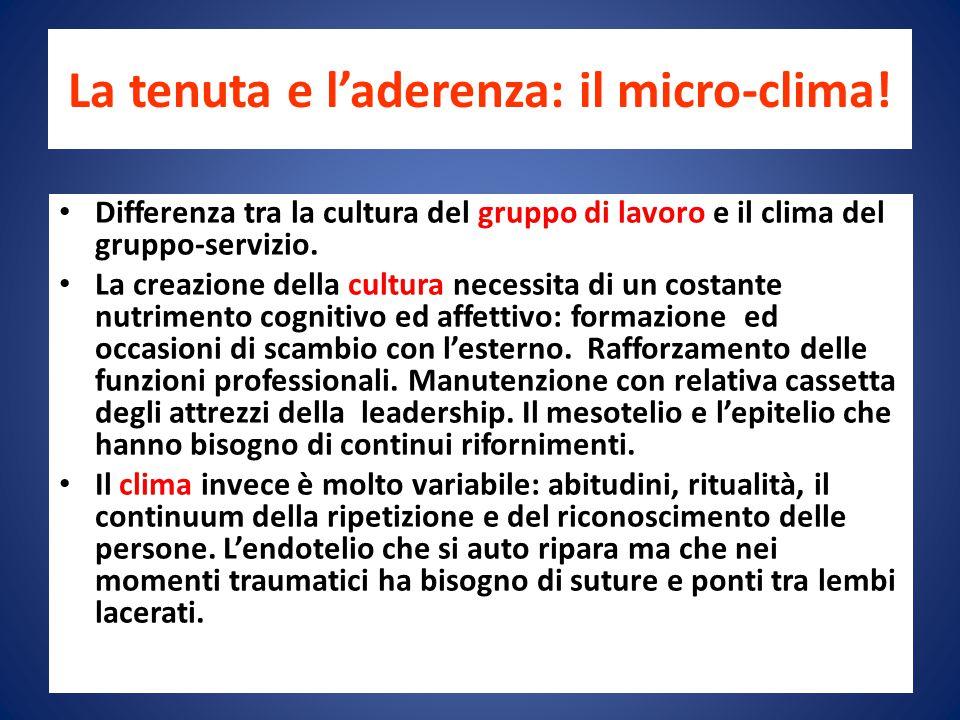 La tenuta e l'aderenza: il micro-clima.