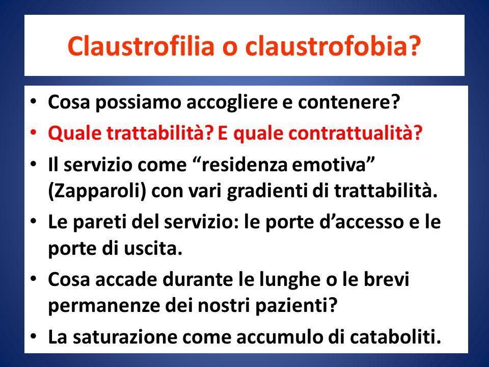 Claustrofilia o claustrofobia.Cosa possiamo accogliere e contenere.