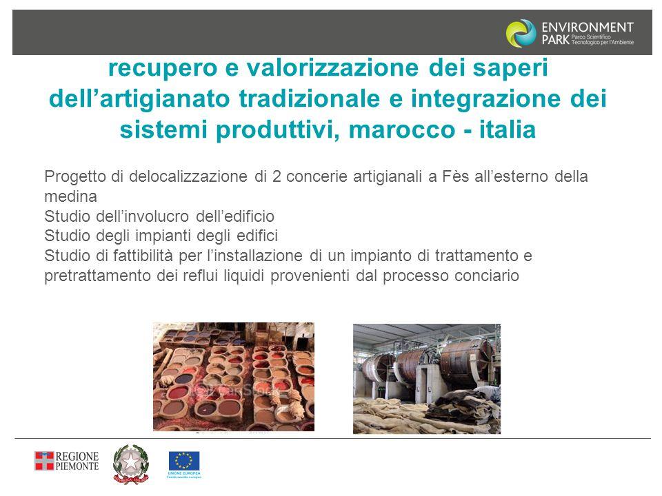 recupero e valorizzazione dei saperi dell'artigianato tradizionale e integrazione dei sistemi produttivi, marocco - italia Progetto di delocalizzazion