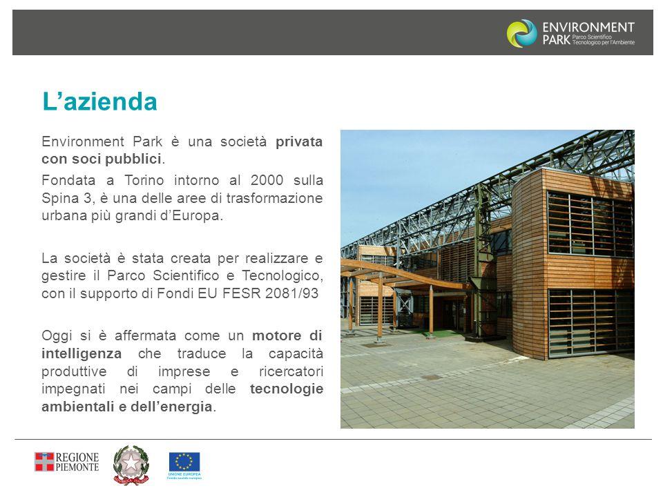 L'azienda Environment Park è una società privata con soci pubblici. Fondata a Torino intorno al 2000 sulla Spina 3, è una delle aree di trasformazione