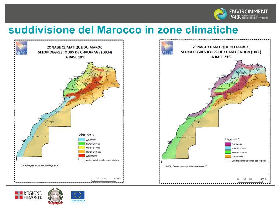 suddivisione del Marocco in zone climatiche