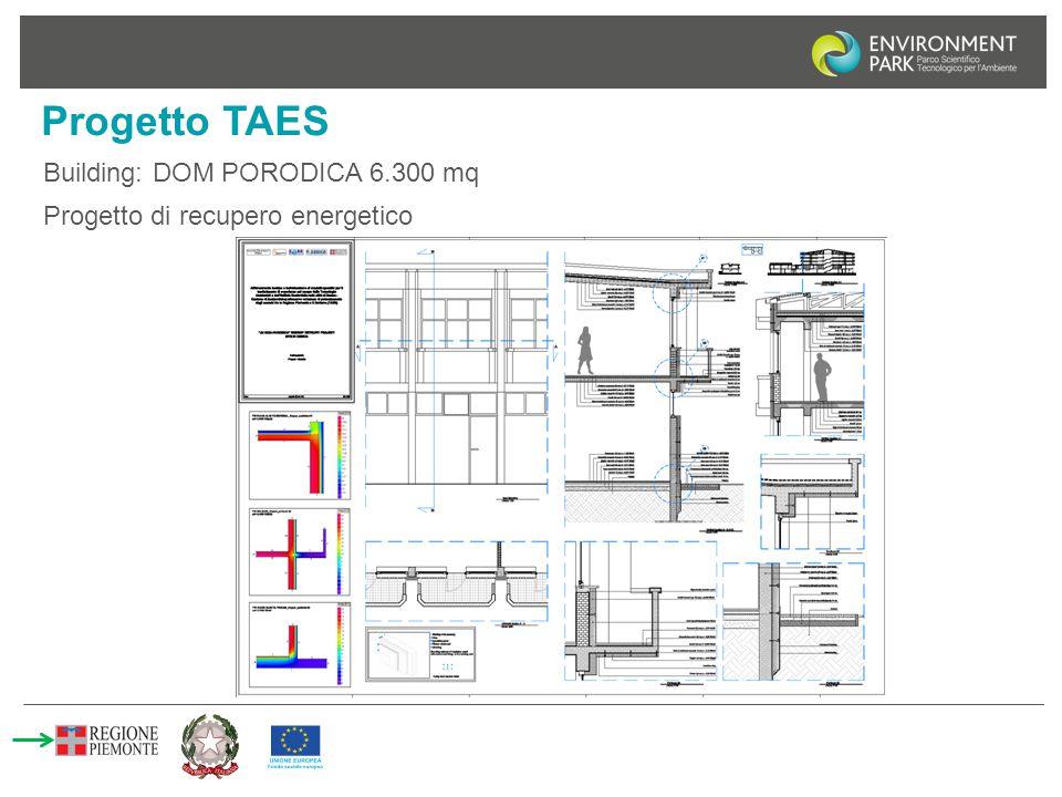 Progetto TAES Building: DOM PORODICA 6.300 mq Progetto di recupero energetico