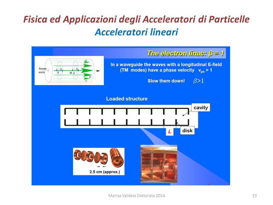Fisica ed Applicazioni degli Acceleratori di Particelle Acceleratori lineari Marisa Valdata Dottorato 201413 