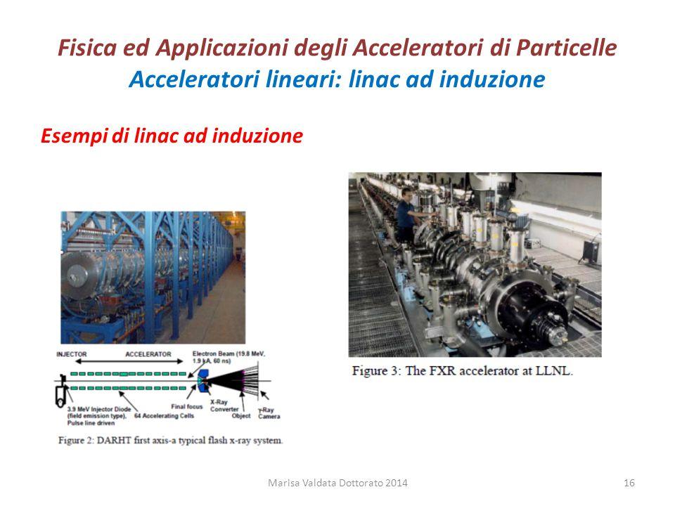 Fisica ed Applicazioni degli Acceleratori di Particelle Acceleratori lineari: linac ad induzione Esempi di linac ad induzione Marisa Valdata Dottorato