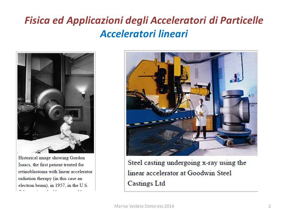 Fisica ed Applicazioni degli Acceleratori di Particelle Acceleratori lineari Marisa Valdata Dottorato 20142