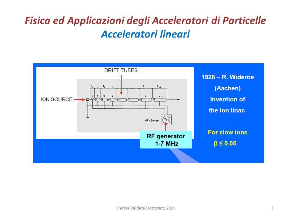 Fisica ed Applicazioni degli Acceleratori di Particelle Acceleratori lineari Marisa Valdata Dottorato 20143