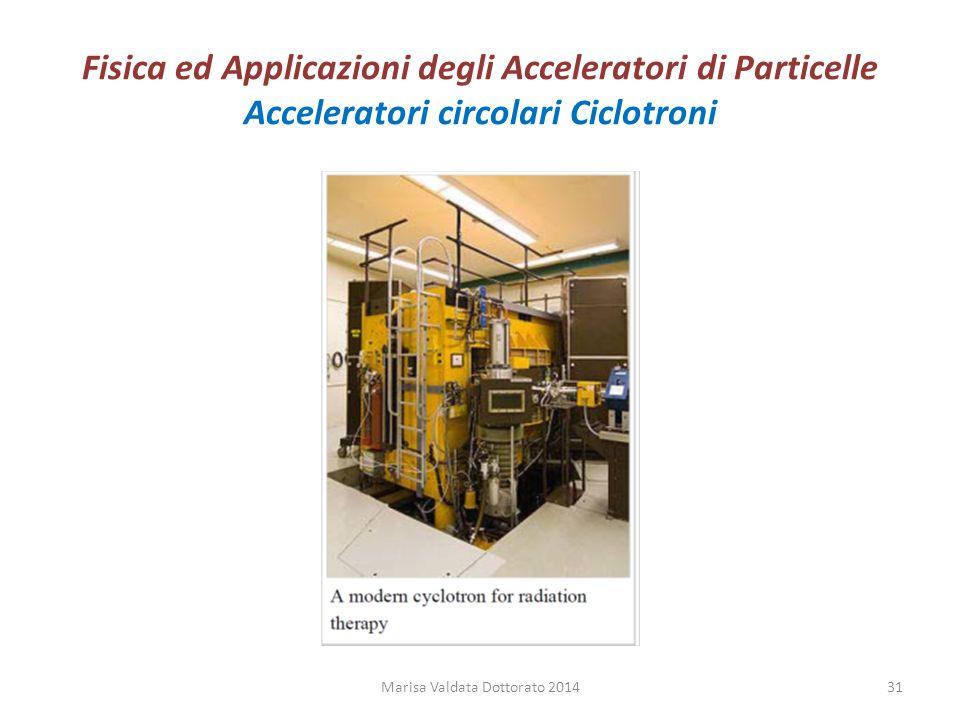Fisica ed Applicazioni degli Acceleratori di Particelle Acceleratori circolari Ciclotroni Marisa Valdata Dottorato 201431