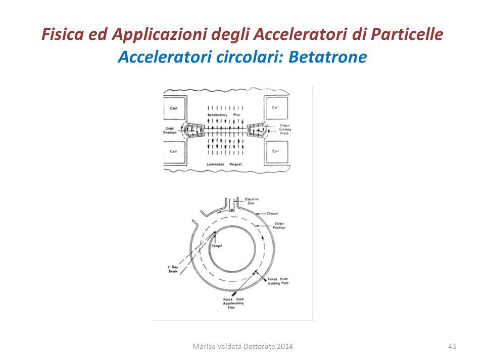 Fisica ed Applicazioni degli Acceleratori di Particelle Acceleratori circolari: Betatrone Marisa Valdata Dottorato 201443