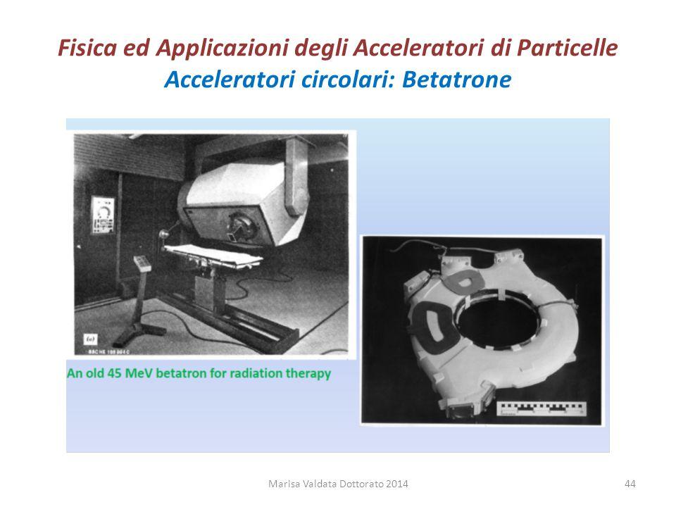 Fisica ed Applicazioni degli Acceleratori di Particelle Acceleratori circolari: Betatrone Marisa Valdata Dottorato 201444