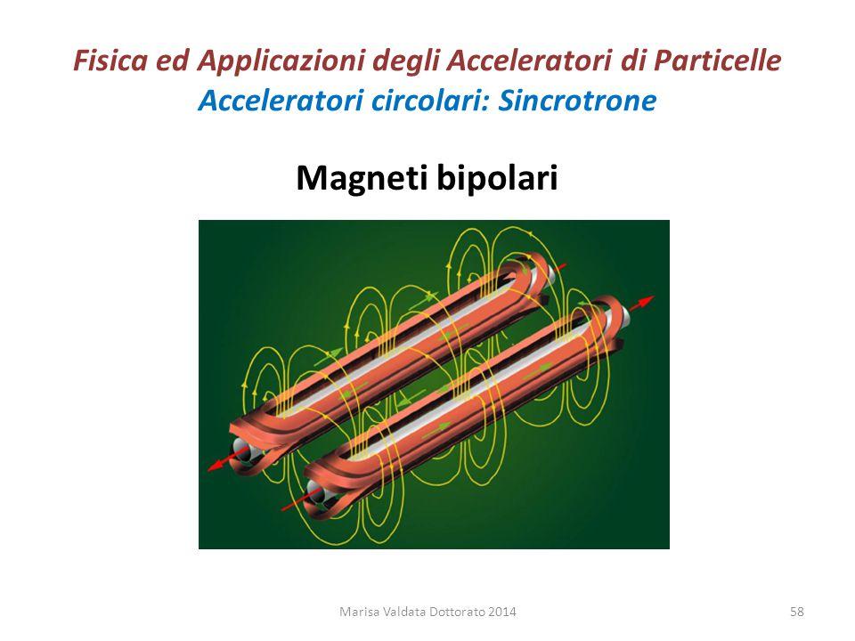 Fisica ed Applicazioni degli Acceleratori di Particelle Acceleratori circolari: Sincrotrone Magneti bipolari Marisa Valdata Dottorato 201458