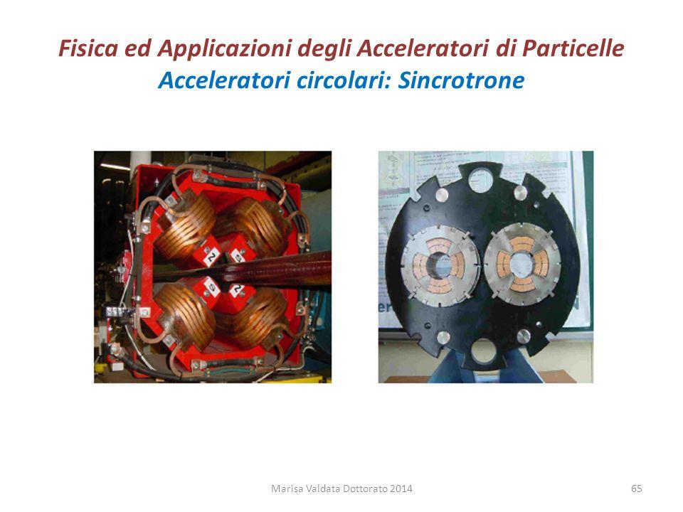 Fisica ed Applicazioni degli Acceleratori di Particelle Acceleratori circolari: Sincrotrone Marisa Valdata Dottorato 201465